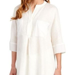 Anne Klein NWT Linen Tunic Blouse  XL